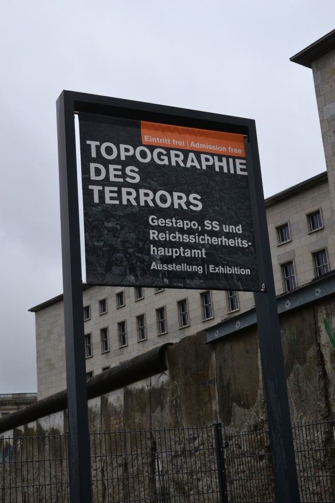 Topography of Terror - The site where the buildings of the Nazi regime were located.