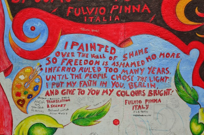 Some art from the East Side Gallery that stood out to me